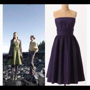 NWT Anthro Maeve purple cotton silk strapless